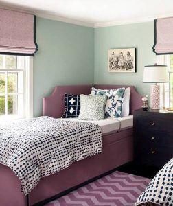 Mint Green And Purple Bedroom | Bedroom Ideas | Modern bedroom, Home ...