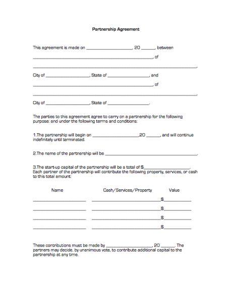Partnership Agreement Sample Printable Agreement Pinterest - real estate partnership agreement