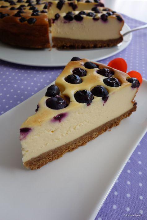 Amerikanischer Blueberry Cheesecake