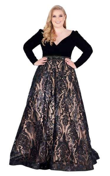 Mac Duggal Fabulouss 67614F Dress | Plus size formal dresses ...