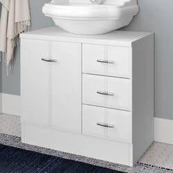 60cm Free Standing Under Sink Storage Unit In 2020 Under Sink Storage Sink Storage Under Sink Storage Unit