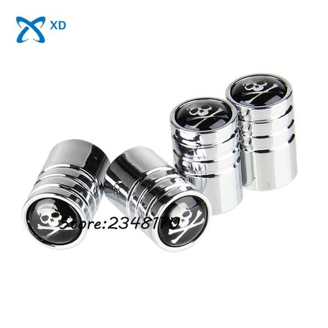 Stainless Steel Dust Cover Car Styling 4pcs Stem Air Caps Car