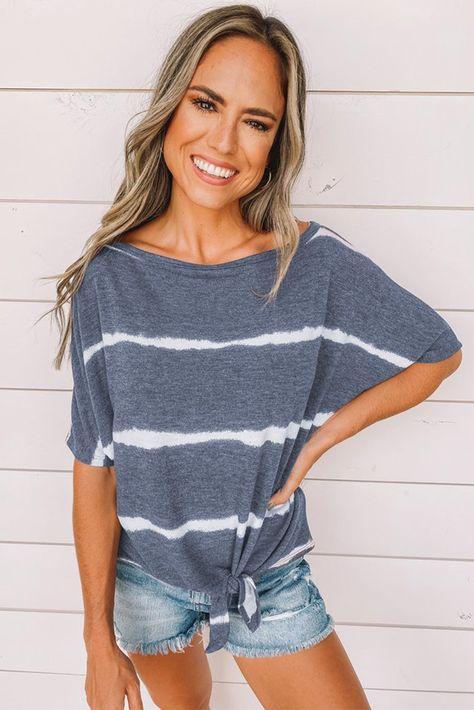 Tie-dye Print Loose T-shirt - Black / (US 16-18)XL