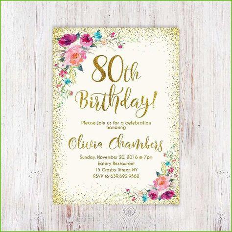 Einladungskarten Geburtstag 80 Geburtstag Einladung Einladung