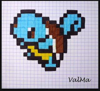 Dessin Pixel Art Carapuce