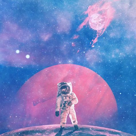 Galaxy planets astronauts