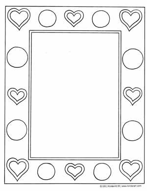Heart Frame Printable Printable Valentines Coloring Pages Free Printable Coloring Pages Valentine Coloring Pages