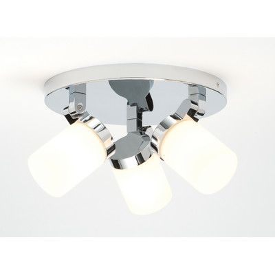 competitive price 5c38b 2a8d0 Saxby Lighting Circular Bathroom 3 Light Ceiling Spotlight ...