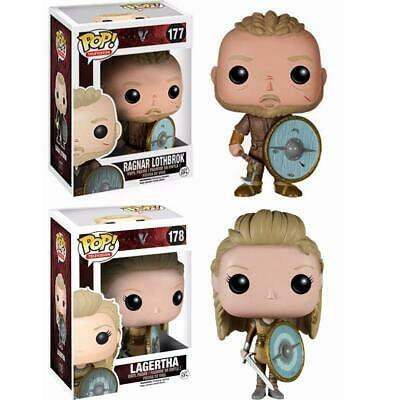 Funko POP Vikings 178# Lagertha 177# Ragnar Lothbrok ORIGINAL FIGURE DÉCORATION