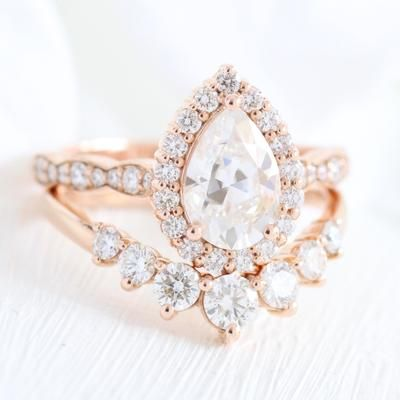 Stunning Bridal Sets That Will Melt Her Heart Wedding Forward Unique Engagement Rings Wedding Ring Sets White Topaz Engagement Ring