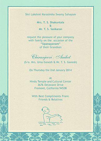 Card No Tc2258 Upanayana Pinterest Weddings