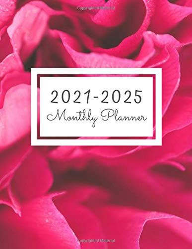 2021 2025 Monthly Planner 60 Monthly Calendar January 2021 December 2025 Academic School Year Student Planner F In 2020 Student Planner Planner Monthly Planner