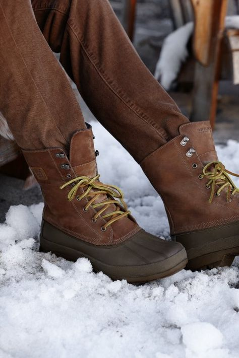 Sperry Top-Sider Men's Cold Bay Boot in Tan / Dark Brown - it's the time to break out those snow boots! #snow #boots #sperrytopsider