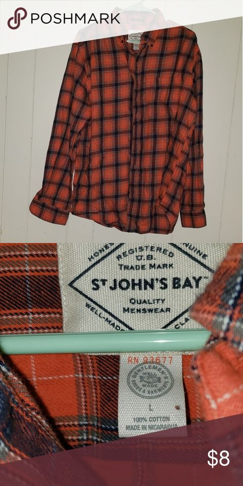 Mens plaid button up Great condition and perfect for spring St. John's Bay Shirts Casual Button Down Shirts