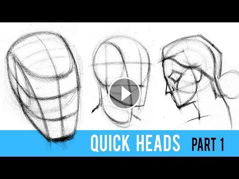 Quickly Draw Heads With The Loomis Method Part 1 Loomis Head
