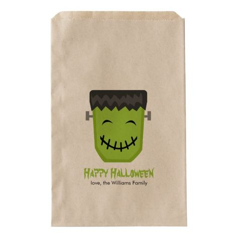 Shop Cool Frankenstein Halloween Party Favor Bag created by heartlocked.