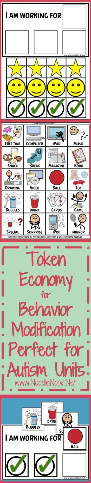 Token Economy- Visual Behavior Modification. Exactly what you need to start a visual reward system with your students.