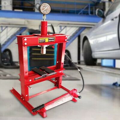 Details About 10 Ton Hydraulic Shop Press Floor Stand Jack Bench Top Mount 178mm Stroke Red In 2020 Hydraulic Shop Press Shop Press Top Mount
