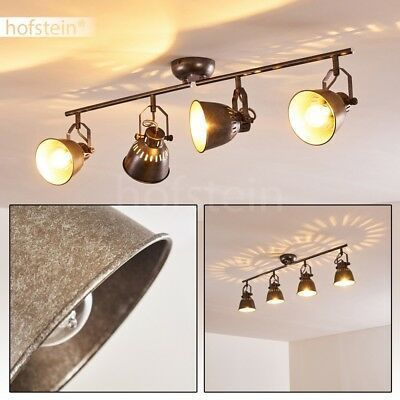 Retro 4er Spot Residential Sleep Room Lamps Hallway Kitchen Ceiling Spotlights Silver Gray Ceiling Hall Kitchen Ceiling Spotlights Room Lamp Kitchen Ceiling