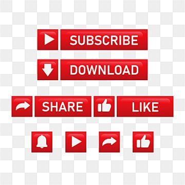 Subscribe Button With Share And Notification Subscribe Button Share Png And Vector With Transparent Background For Free Download In 2021 Free Vector Graphics Social Media Icons Flower Wedding Invitation