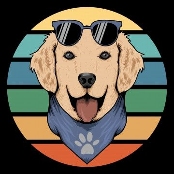 Dog Sunset Retro Vector Illustration 1980 80s Abstract Png And Vector With Transparent Background For Free Download Ilustrasi Lucu Ilustrasi Desain