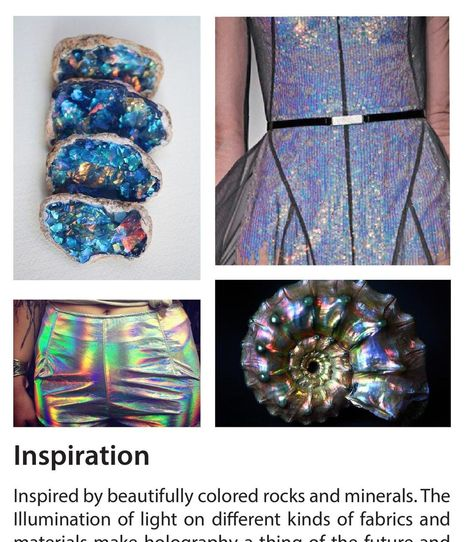ClippedOnIssuu from Futuristic Trend Book A/W by Chantelle Fandino. These gem/oil coolours have popped up everywhere in 2016 forecasts.