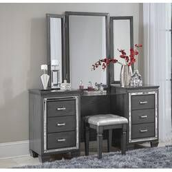 Galento Transitional Vanity Set With Mirror Vanity Set With Mirror Vanity Mirror Vanity