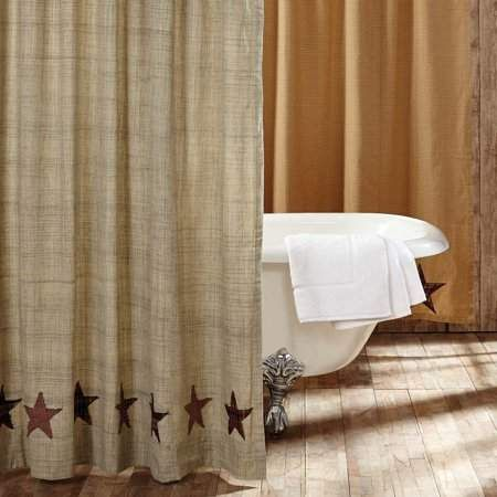 Ashton Willow Tan Classic Country Bath Country Star Rod Pocket