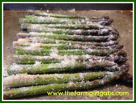 Roasted Asparagus with Garlic and Parmesan is a quick and delicious vegetable recipe. You can't go wrong with fresh asparagus, garlic and parmesan! This easy asparagus is an easy side dish for a family dinner or special occasion holiday. #asparagusrecipe #easysidedish #vegetablerecipe
