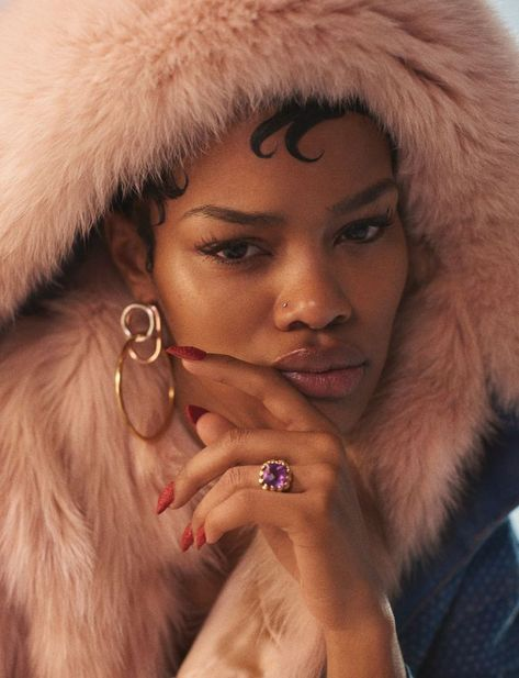 """thesocietynyc: """"Teyana Taylor for the Wonderland Winter 2016 issue, photographed by Antoine Harinthe and styled by Simon Rasmussen """" Black Girl Magic, Black Girls, Black Women, Hip Hop Fashion, Dope Fashion, Black Girl Aesthetic, Pretty Females, Teyana Taylor, Aesthetic Images"""