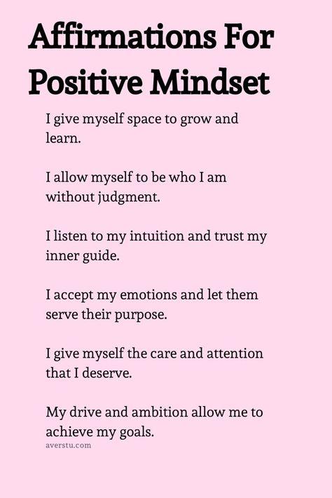 affirmations for a positive mindset