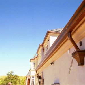 Pictures Of Installed Copper Gutters We Have Provided Copper Gutters Gutters House Styles