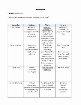 50 The Progressive Era Worksheet In 2020 With Images Worksheet