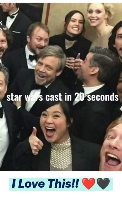 Star Wars cast in 20 seconds
