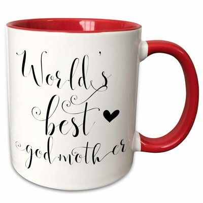 Symple Stuff Kirbyville Best Godmother Ever Worlds Best Godmother Gift For Godmother Coffee Mug Godmother Gifts Mugs Custom Printed Mugs