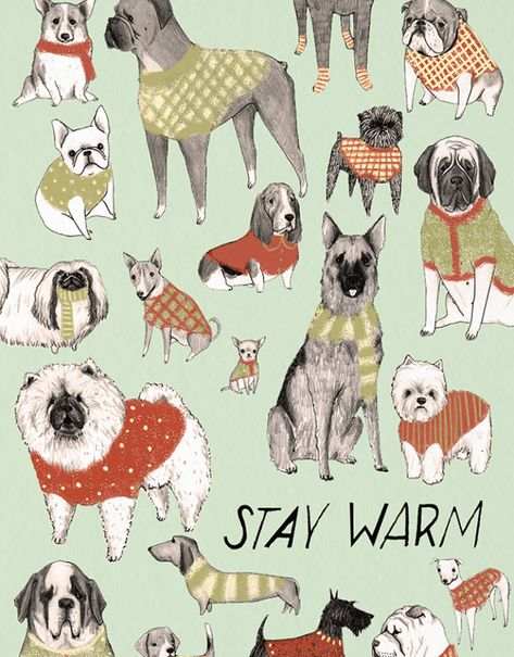 Dog Christmas card by Mai Ly Degnan on Postable.com