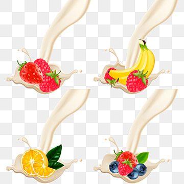 A Splash Of Milk Or Yoghurt With Fruit Milk Yogurt Splash Png And Vector With Transparent Background For Free Download Yoghurt Milk Fruit