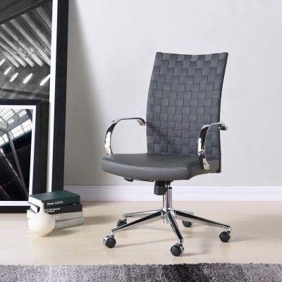 Rune Pu Office Chair Rocky Gray 310 At Tampa Bay Furnishings