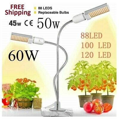 Sponsored Link Led Plant Grow Lights Sunlike Full Spectrum Dual Head Flexible For Greenhouse In 2020 Led Grow Lights Grow Lights Grow Lights For Plants
