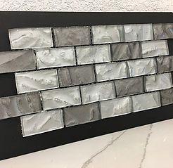 Backsplash Tile Near Me Boca Raton Barcelona 3d Wavy Brick Glass Mosaic Color Metallic Shades Of Grey Sqft P Tile Backsplash Tile Installation Backsplash