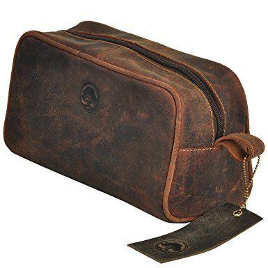b3339025f006 TONY'S BAGS Handmade Buffalo Genuine Leather Toiletry Bag Dopp Kit ...