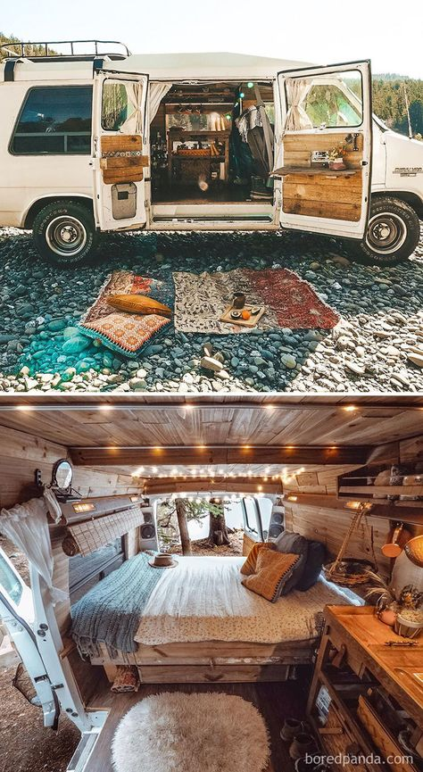 The 30 most epic transformations of vans and buses that will .- As 30 transformações mais épicas de vans e ônibus que vão te inspirar a cair na estrada The 30 most epic transformations of vans and buses that will inspire you to hit the road - Bus Living, Living In A Bus, Converted School Bus, Converted Vans, Caravan Vintage, Vintage Caravans, Vintage Campers, Vintage Rv, Vintage Travel