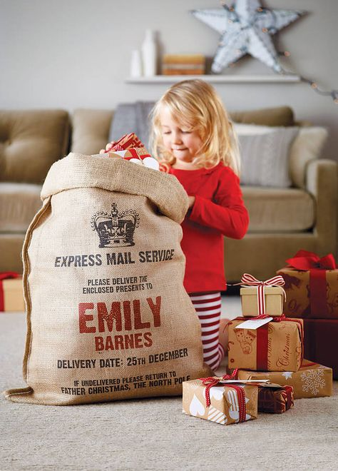 $35 Personalized Christmas Sack - useful for many years & then it becomes a great keepsake.