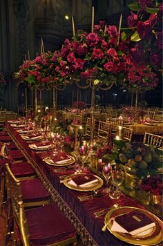 Red and Green Christmas Reception Decor - Sonal J. Shah Event Consultants, LLC.