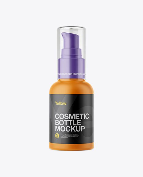 Download Matte Cosmetic Bottle With Pump Mockup In Bottle Mockups On Yellow Images Object Mockups Cosmetic Bottles Mockup Free Psd Mockup Free Download Yellowimages Mockups