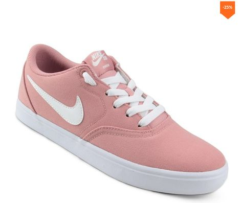 Tênis Nike Wmns Sb Check Solar Cnvs Feminino - Rosa  217395b8d28a6