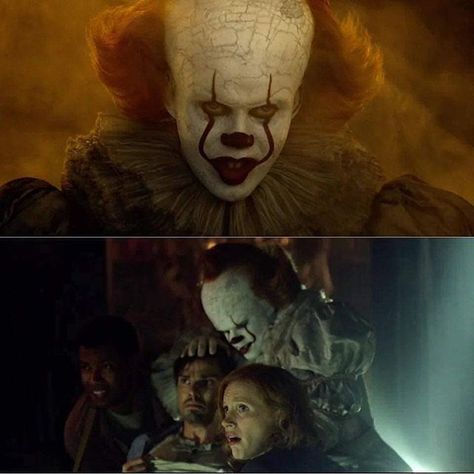 New pictures of Pennywise from the latest #itchapter2 #itchaptertwo featurette! . . . #stephenking #pennywise #itmovie #calefilm #grippesou #cachapitre2