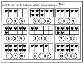 Color The Ten Frame To Make 10 Kindergarten Math Worksheet Madebyteachers Kindergarten Math Worksheets Free Kindergarten Math Free Spring Math Worksheets