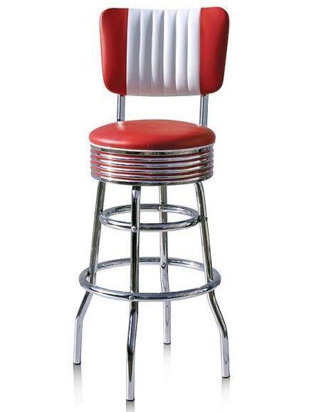 American 50s Style Diner Bar Stools Retro Bar Stools Vintage