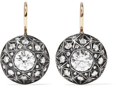 Fred Leighton Collection 18-karat Gold, Silver And Diamond Earrings